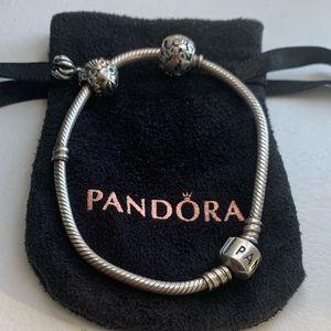 Authentic Pandora Bracelet with 2 Charms 🌏🐠